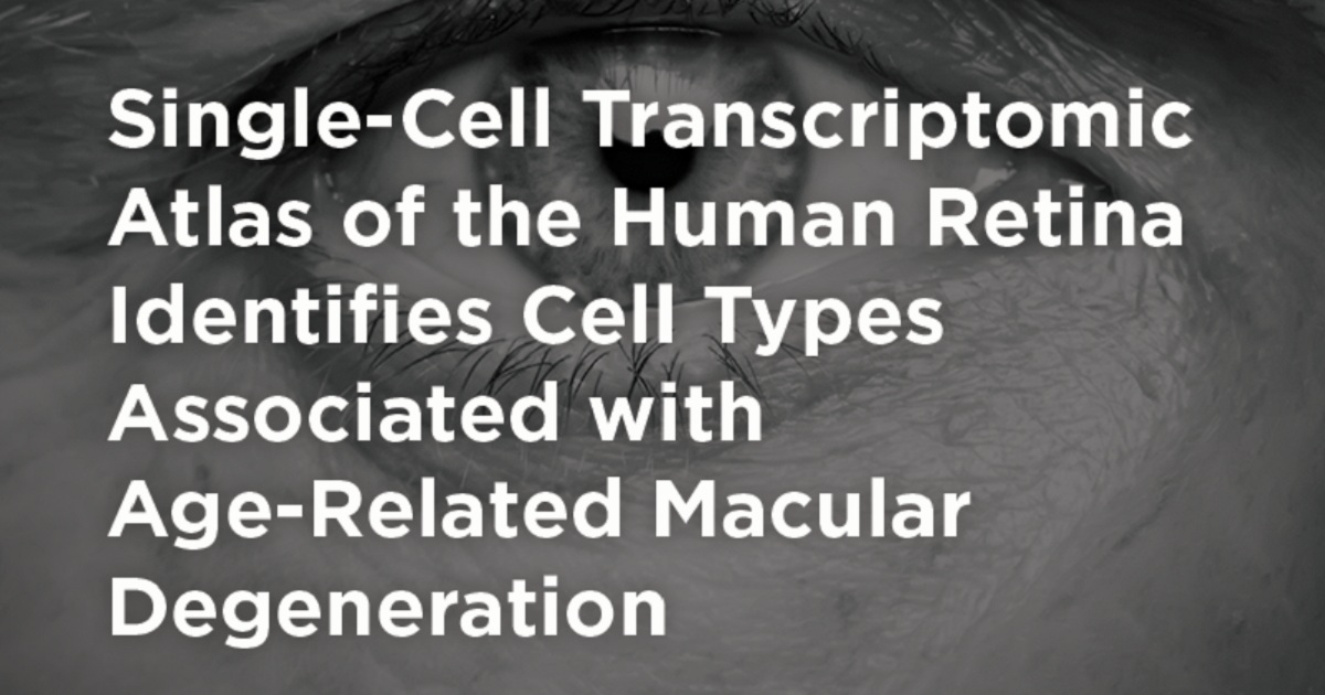 Single-Cell Transcriptomic Atlas of the Human Retina Identifies Cell Types Associated with Age-Related Macular Degeneration