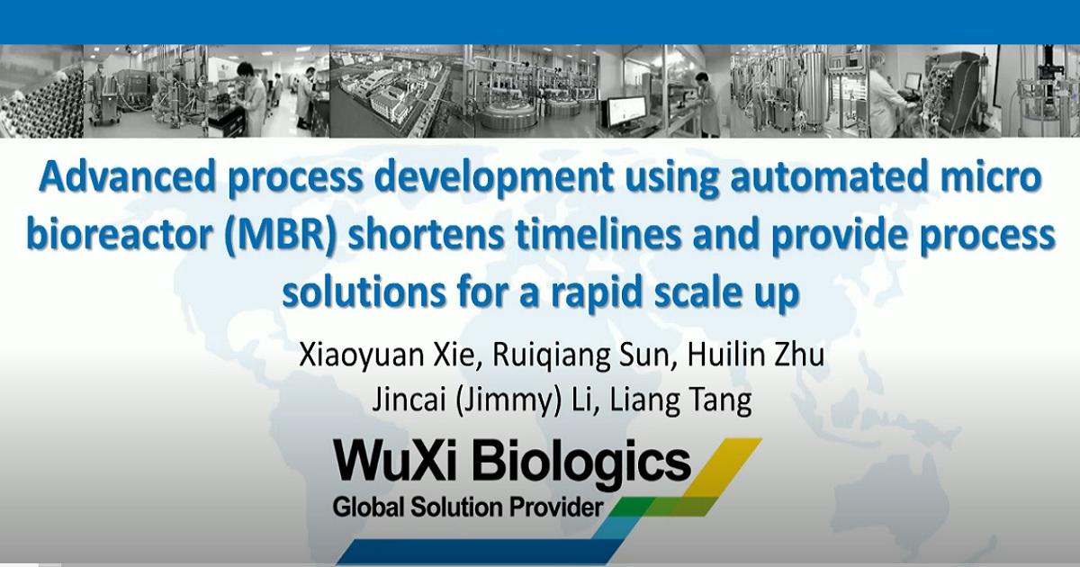 Advanced process development using automated micro bioreactors shortens the timeline
