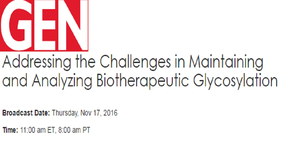 Addressing the Challenges in Maintaining and Analyzing Biotherapeutic Glycosylation