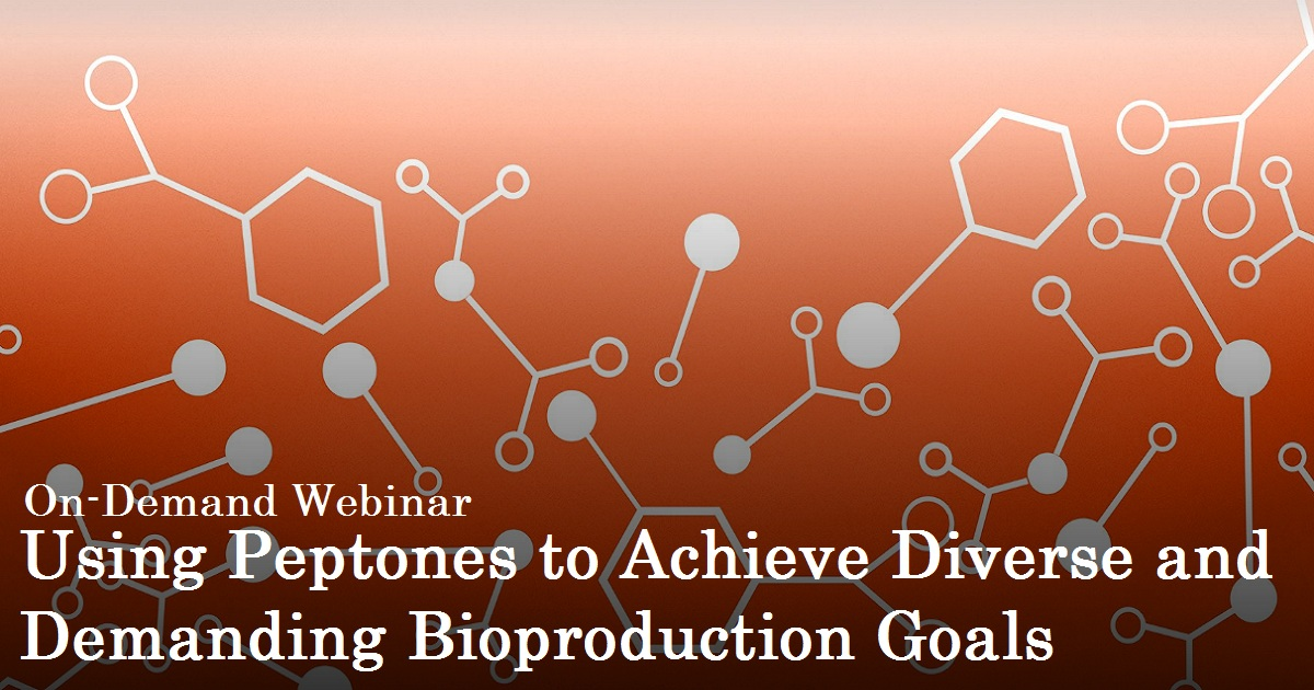 Using Peptones to Achieve Diverse and Demanding Bioproduction Goals