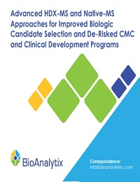 ADVANCED HDX-MS AND NATIVE-MS APPROACHES FOR IMPROVED BIOLOGIC CANDIDATE SELECTION AND DE-RISKED CMC AND CLINICAL DEVELOPMENT PROGRAMS
