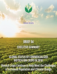 GLOBAL STATUS OF COMMERCIALIZED BIOTECH/GM CROPS